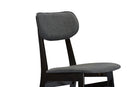 Debbie Dark Brown Grey Dining Chair (Set of 2)