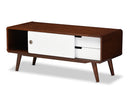 Armani Walnut & White TV Cabinet