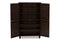 Winda   4-Door Dark Brown Wooden Entryway Shoes Storage Cabinet