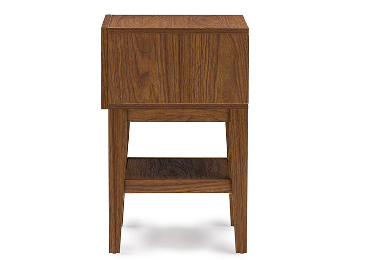 Gaston Two-tone Walnut and White Modern Accent Table and Nightstand