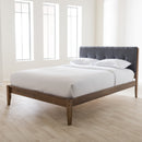 Leyton   Grey   Queen Size Platform Bed