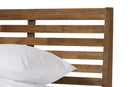 Daylan   Solid Walnut Wood Slatted Queen Size Platform Bed