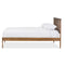 Trina Contemporary Tree Branch Inspired Walnut Wood King Size Platform Bed