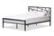 Barkley Black Metal Full Size Platform Bed