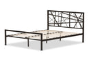 Barkley Black Metal Queen Size Platform Bed