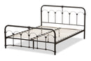 Celeste Vintage Industrial Black Finished Metal Full Size Platform Bed