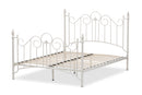 Scarlett Vintage Industrial White Finished Metal Full Size Platform Bed