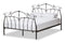 Selena Vintage Industrial Black Finished Metal Queen Size Platform Bed