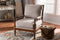 Beaumont Beige Spindle Lounge Chair