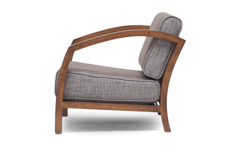 "Velda Brown and ""Gravel"" Modern Accent Chair"