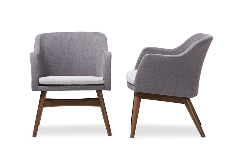 Vera Grey Lounge Chair (Set of 2)