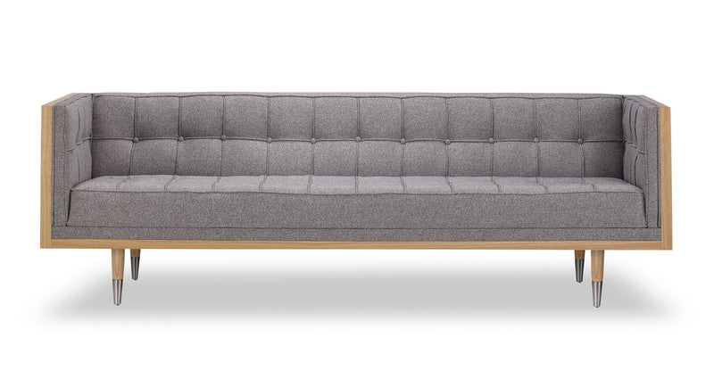 Woodrow Box Sofa, Ash/Urban Pebble