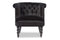 Flax Black Velvet Accent Chair