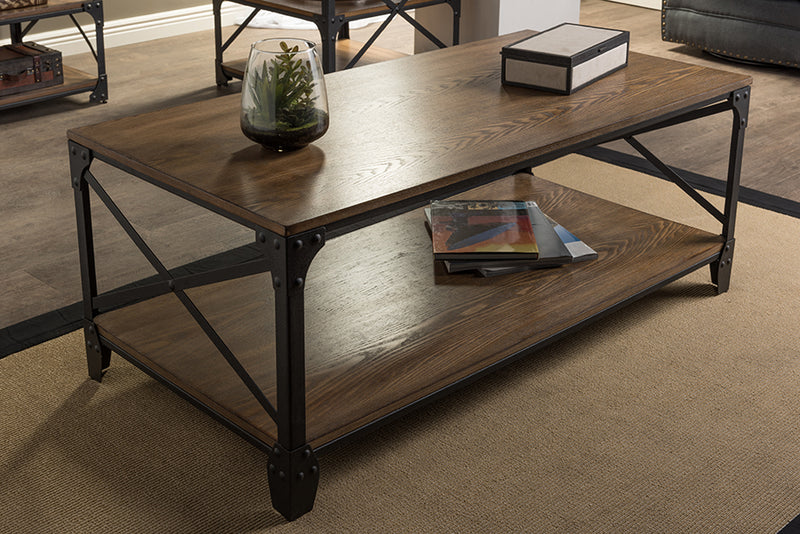Greyson Vintage Industrial Antique Bronze Occasional Cocktail Coffee Table