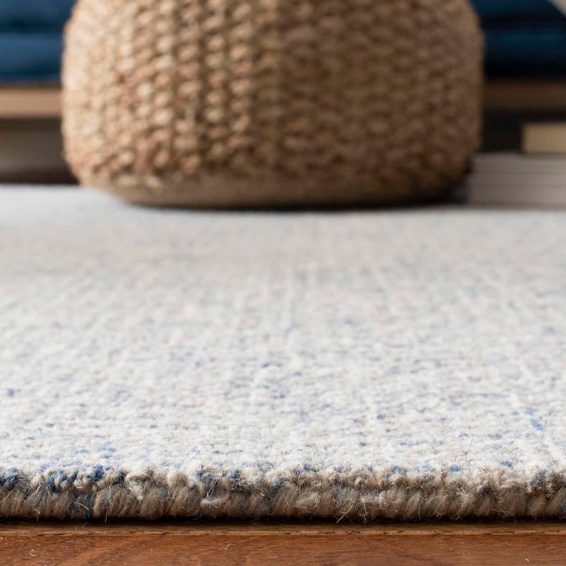 Abstract Ivory Wool Rug