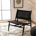 Sonder Leather Woven Accent Chair