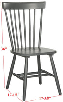 "Ventura  17"" H Spindle Dining Chair ( Set Of 2)"