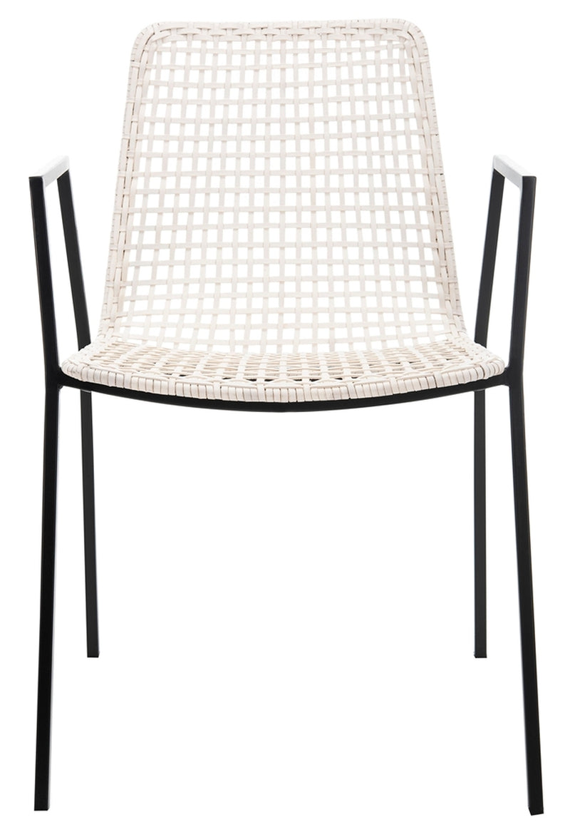 Wynona Leather Woven Dining Chair (Set of 2)