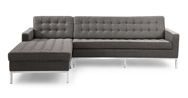 Florence Left Sectional, Cadet Grey