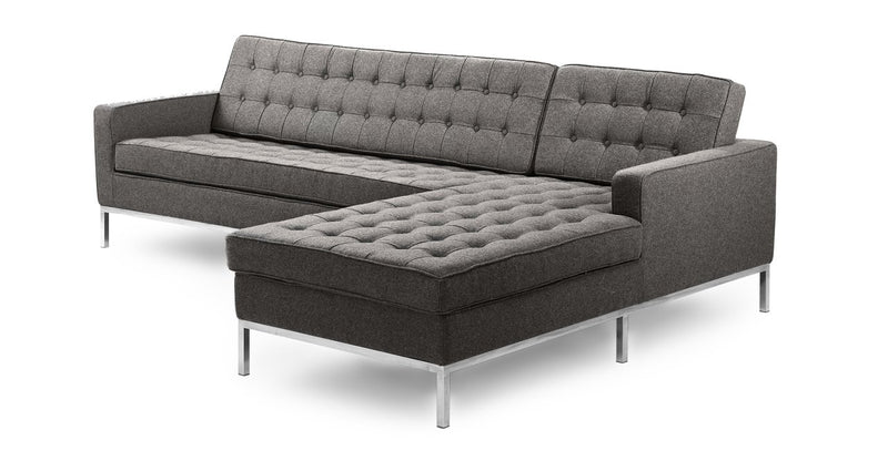 Florence Right Sectional, Cadet Grey