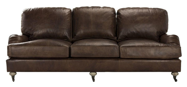 Calvin Brown Leather Sofa