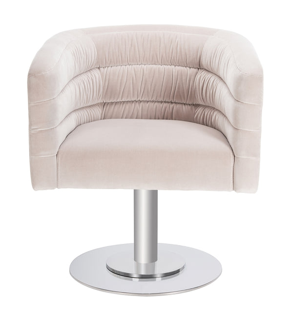 Muva Velvet Swivel Tub Chair - Cream