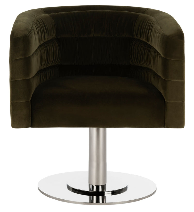 Muva Velvet Swivel Tub Chair