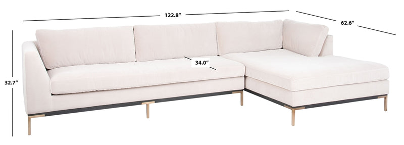 Lyona Velvet Sectional