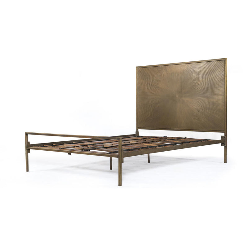 Sunburst King Bed-Brass