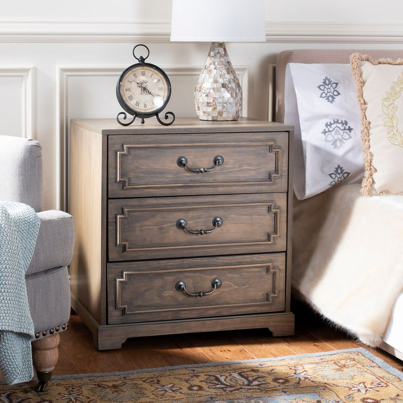 Leighton 3 Drawer Nightstand