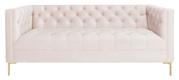 Vydia Velvet Tufted Sofa