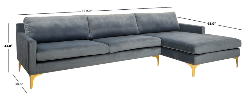 Andes 2-Piece Chaise Sectional
