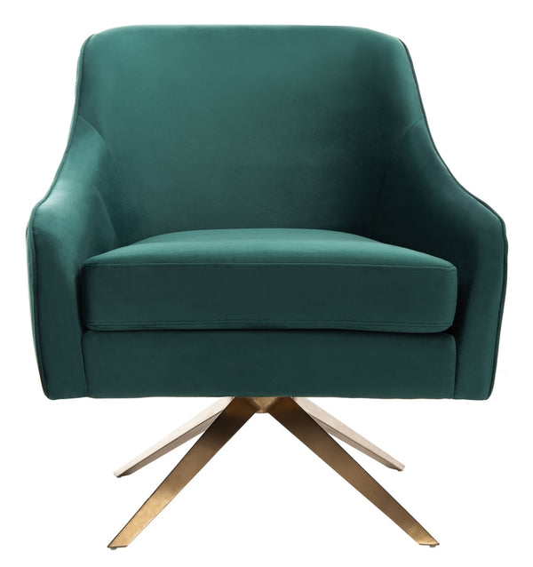 Lola Green Plated Swivel Chair
