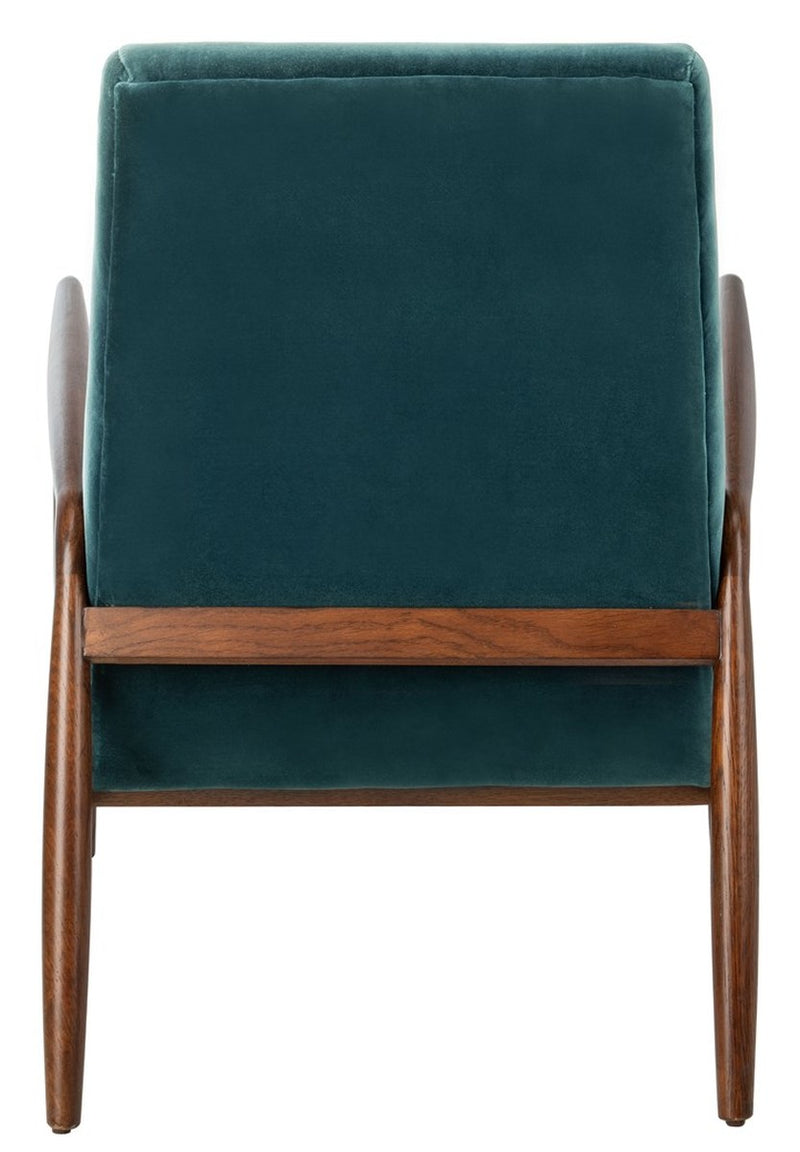 Cooper Blue Channel Tufted Arm Chair