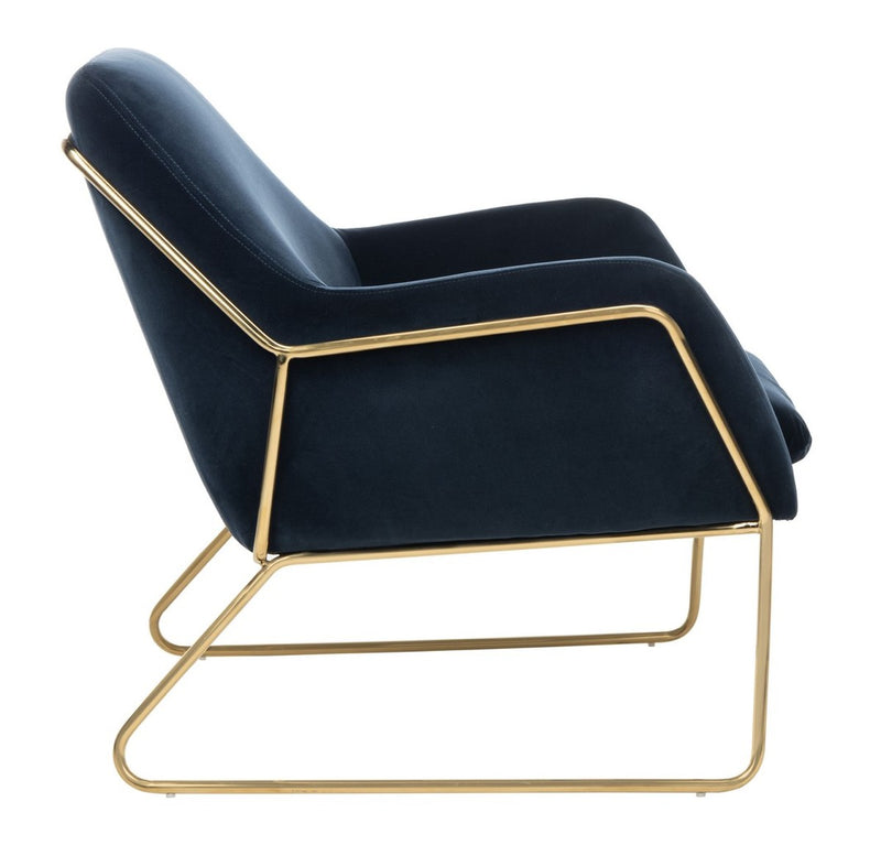 Crescent Gold Frame Accent Chair