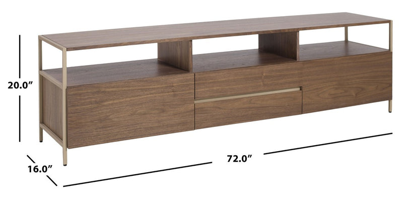 Clyde Gold Accent TV Stand
