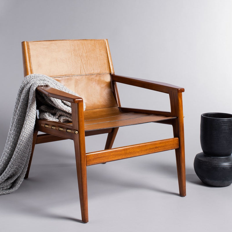 Collin Leather Sling Chair