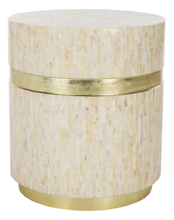 Perla Mosaic Round Side Table