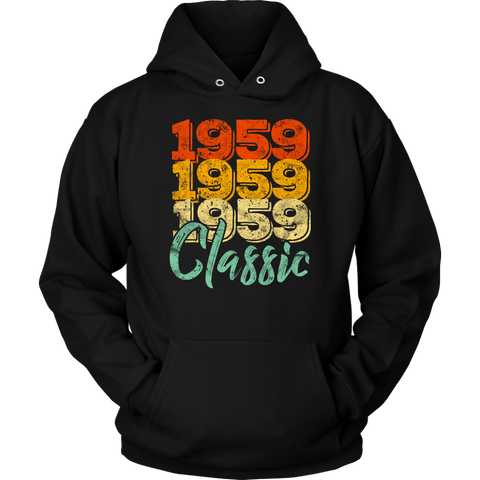 Vintage 1959 Classic 59th Retro Birthday Hoodie