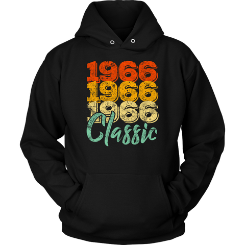 Vintage 1966 Classic 52nd Retro Birthday Hoodie