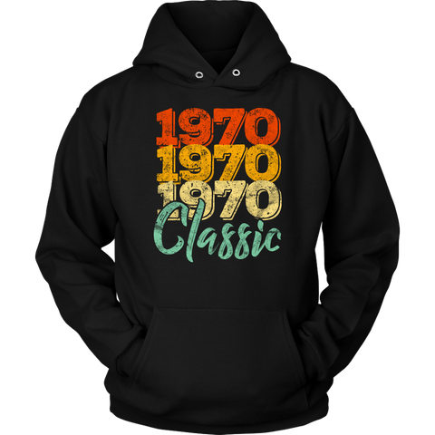 Vintage 1970 Classic 48th Retro Birthday Hoodie