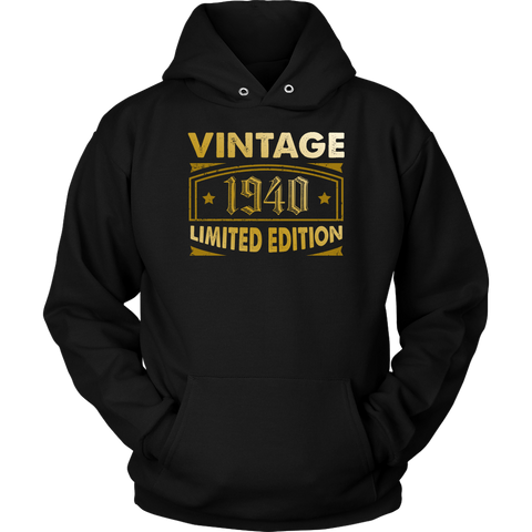 Vintage 1940 78 Year Old Birthday Gift Hoodie