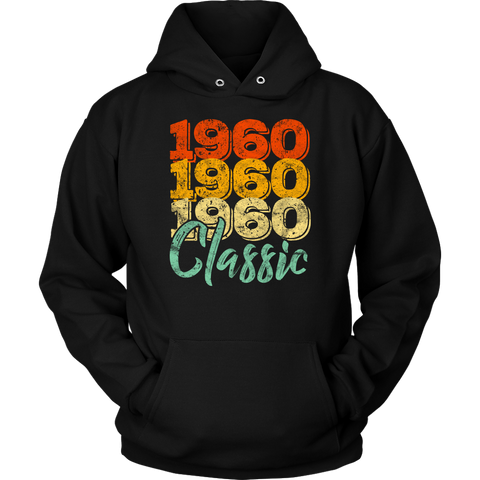 Vintage 1960 Classic 58th Retro Birthday Hoodie