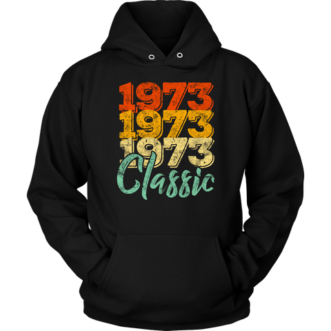 Vintage 1973 Classic 45th Retro Birthday Hoodie