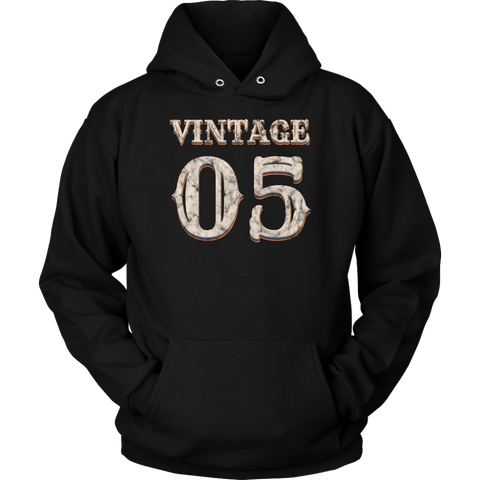 Vintage 05 Hoodie 13th Birthday Gift for 13 Year Old