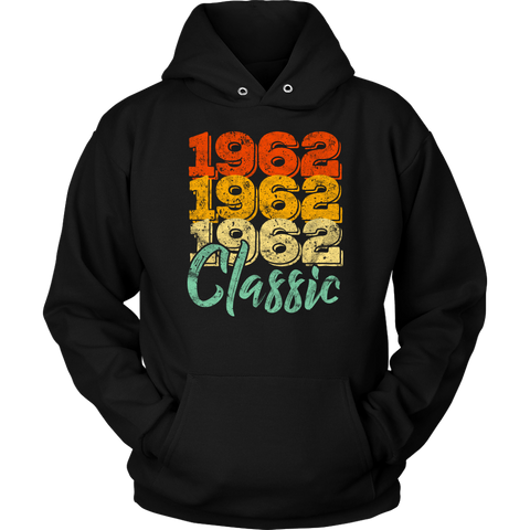 Vintage 1962 Classic 56th Retro Birthday Hoodie