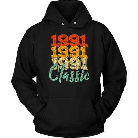 Vintage 1991 Classic 27th Retro Birthday Hoodie