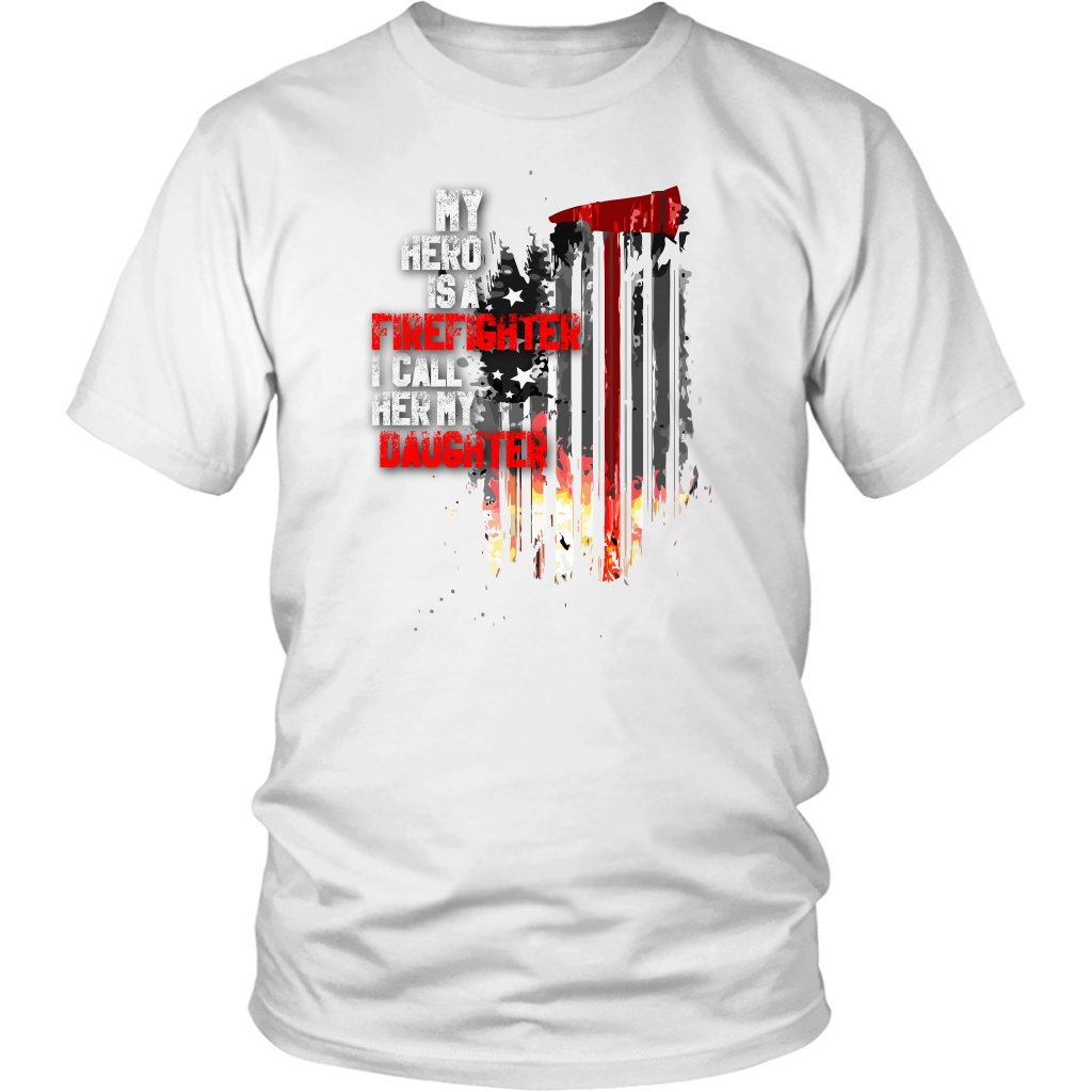 Men's Thin Red Line American Flag Firefighter Daughter T-Shirt