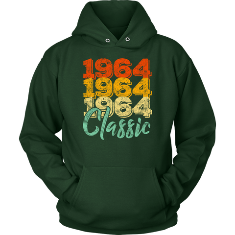 Vintage 1964 Classic 54th Retro Birthday Hoodie