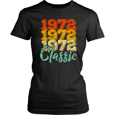 Women's Vintage 1972 Classic 46th Retro Birthday T-Shirt